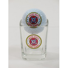 Coast Guard with Shot Glass