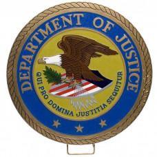 Department of Justice Plaque