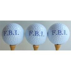 FBI Golf Balls
