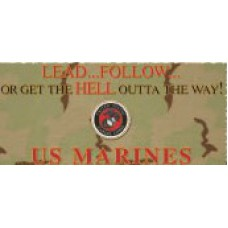 Marines, Lead, Follow Or Mug