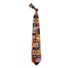 Marine Collage Tie
