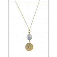 Single Coin Pearl Necklace