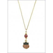 Shield Necklace Gold