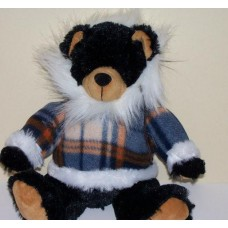 Winter Black Bear Stuffed Animal