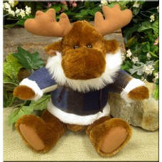 Winter Moose Stuffed Animal